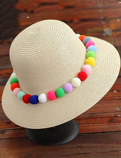 Cappello da sole Moda Cappello casuale Rattan Corona cappello di paglia  pieghevole Holiday Beach Cappello femminile 0c0fbc897c28