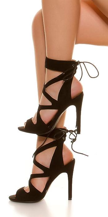 Sexy Heel SchnürenSchwarzAmazon In Cutout Stylefashion High Zum hCtQrdxs