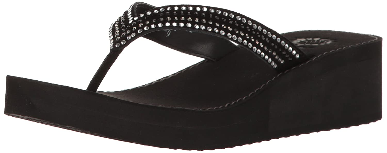 Yellow Box Women's Baxx Wedge Sandal B01LY93L3M 9.5 B(M) US|Black