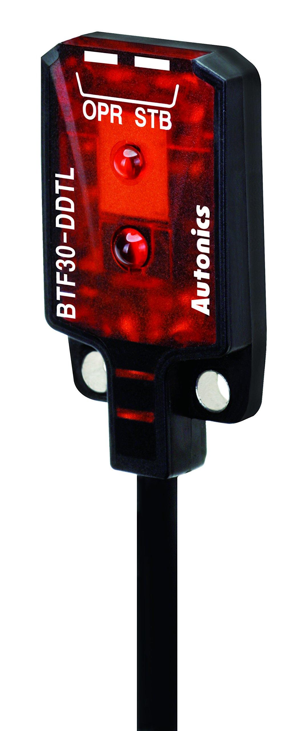 AUTONICS BTF30-DDTL-P Sensor, Photo, Diffuse, 5~30mm Sensing Distance, Light On, PNP Output, 12-24VDC