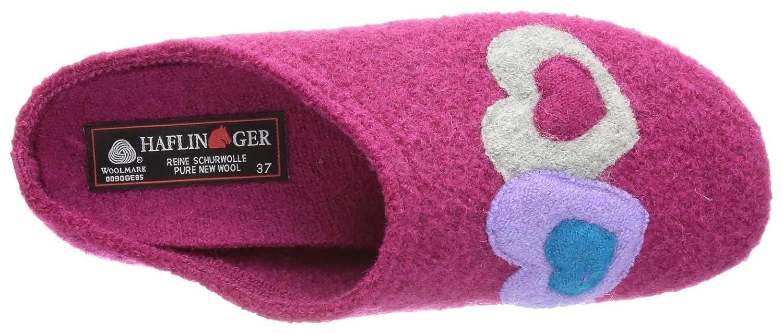 Everest Classic Herz 483046, Damen Hausschuhe, Pink (fuchsia 34), EU 41 Haflinger