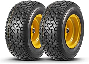 2 Pcs 16x6.50-8 Front Tires and Wheels Assembly for Lawn Mower Tractors, 3