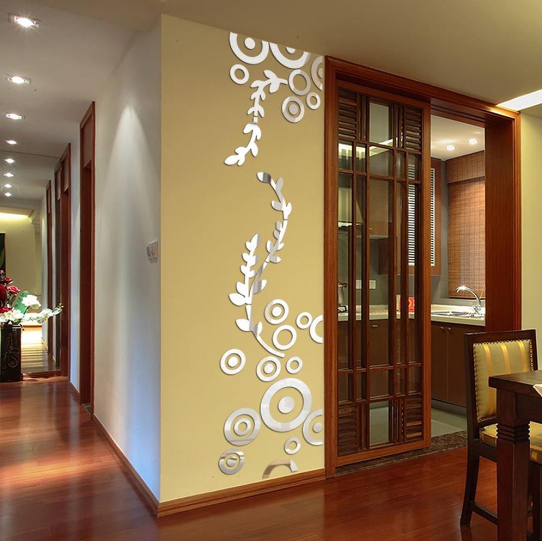 Amazon.com: Besde Wall Decoration Acrylic Mirrored Decorative ...