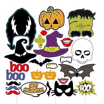Amazoncom Pixnor 24pcs Happy Halloween Photo Booth Props Skull