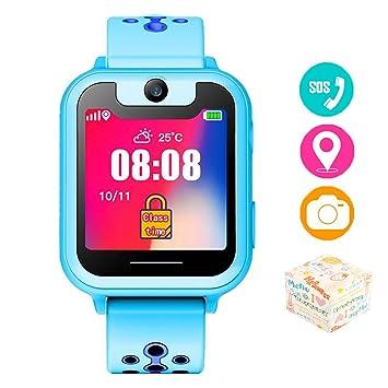 The perseids Reloj inteligente para niños con rastreador GPS, reloj de pulsera para niños de