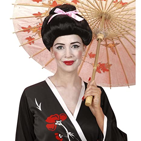 Geisha de la peluca de la peluca para mujer Japón Asia Girl Carnaval Cosplay China del