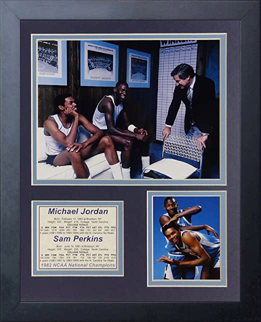 Legends Never Die NCAA North Carolina Tar Heels Framed Double Matted Photo