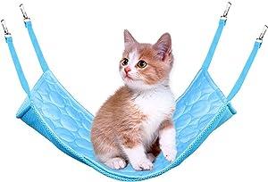 YOMI Pet Cage Hammock, Pet Hammock, Dot Pet Hammock, Soft Plush Pet Bed, Suitable for Ferret Cotton Hammock, Guinea Pig, Hamster, Gerbil, Cat Cage, Etc.