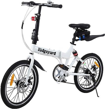 Ridgeyard Bicicleta Plegable 20 Pulgadas de 6 velocidades Bici ...