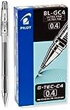 Pilot G-Tec-C Gel Rolling Ball Pens, Ultra Fine Point, Black Ink, Dozen Box (35491)