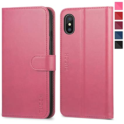 100% authentic 87573 aa7d3 iPhone Xs Max Case, iPhone Xs Max Wallet Case, TUCCH [RFID Blocking] PU  Leather Flip Case [Card Holder][Wireless Charging][Kickstand] Auto  Wake/Sleep ...