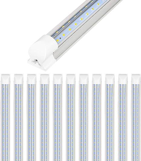 Utility LED Shop Light 4ft Linkable 42 Watt 4500 Lumen 5000K Daylight White 4pcs
