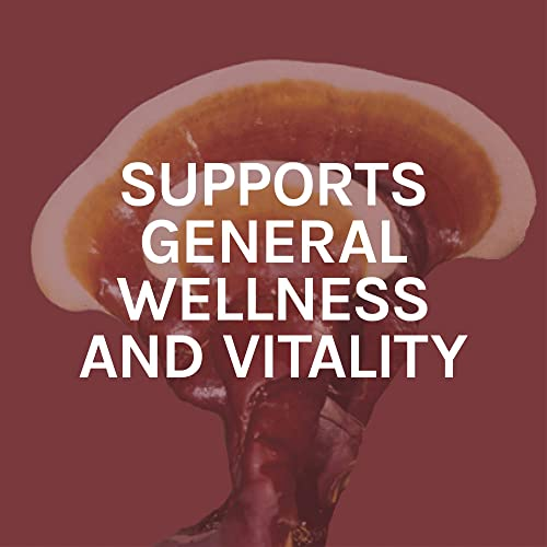 Host Defense, Reishi Extract, Supports General Wellness and Vitality, Daily Mushroom Mycelium Supplement, Organic, 2 fl oz 30 Servings
