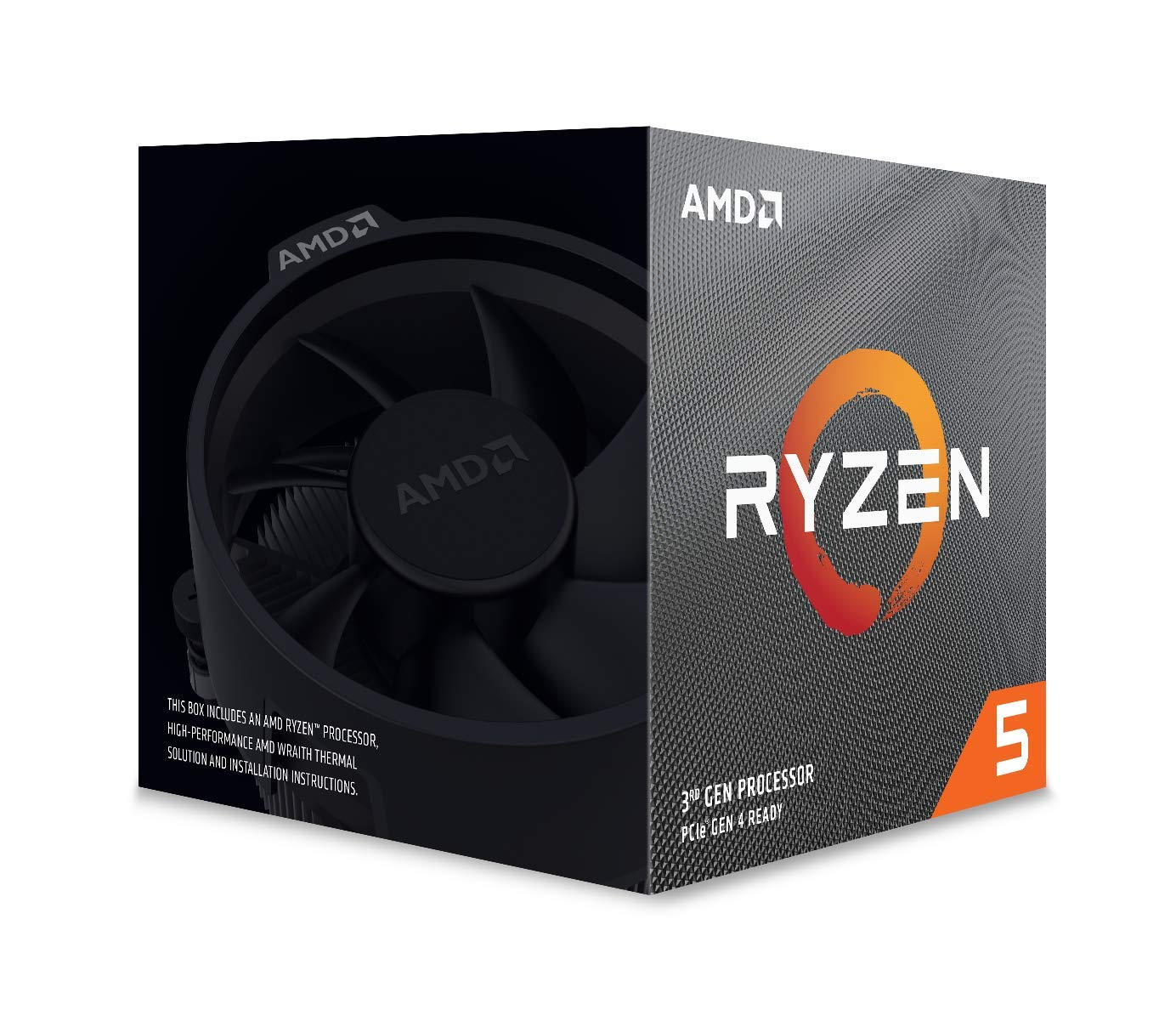 12-thread processor with Wraith Spire Cooler AMD Ryzen 5 3600X 6-core