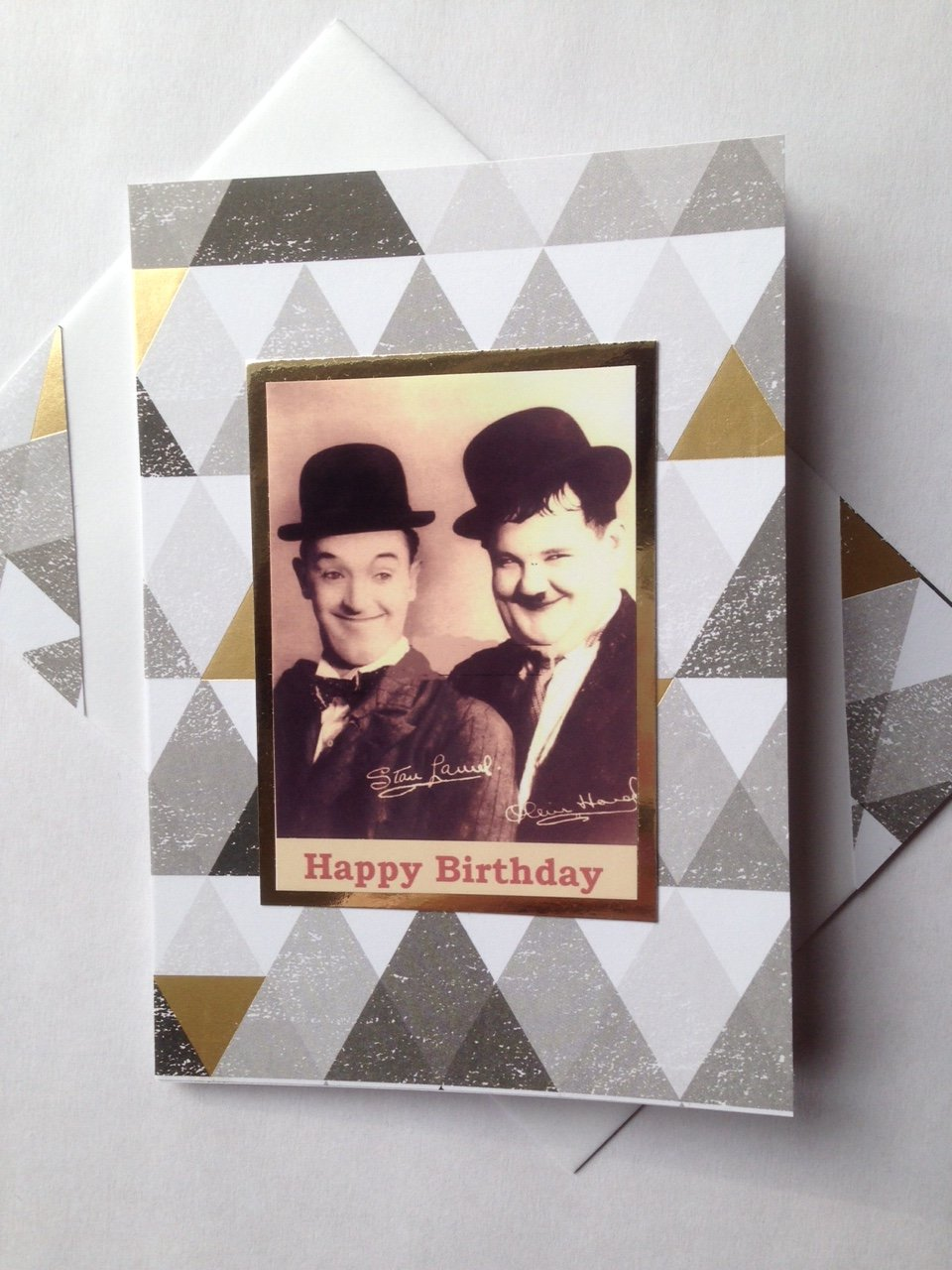 Amazon LAUREL AND HARDY birthday card famous Double comedy – Laurel and Hardy Birthday Cards