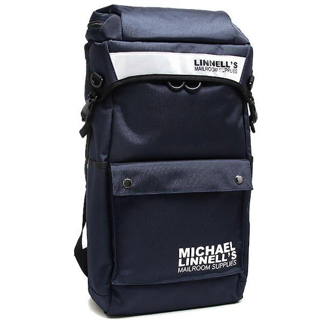 [マイケルリンネル] メンズ リュック MICHAEL LINNELL ML-013 約34L ネイビー ホワイト [並行輸入品]   B01JI2DECG