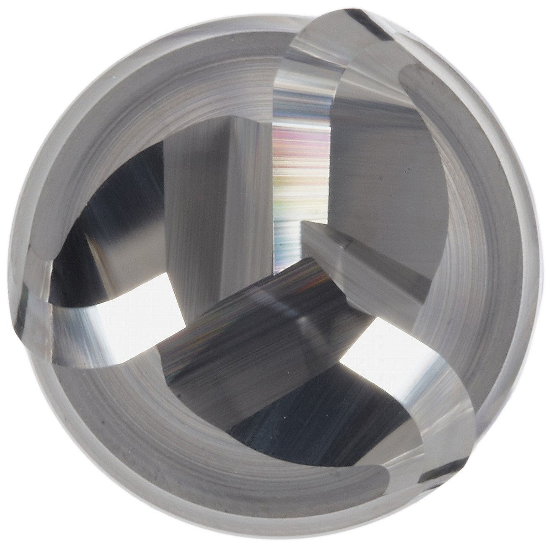 45 Deg Helix 4 Overall Length Finishing Cut YG-1 E5983 Carbide Corner Radius End Mill 0.06 Corner Radius 0.75 Cutting Diameter 0.75 Shank Diameter Long Reach Non-Center Cutting 3 Flutes TiCN Monolayer Finish