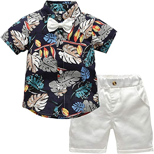Hawaiian Style Infant Baby Boy Short Sleeve T-shirt+Shorts Outfits Kids Clothes