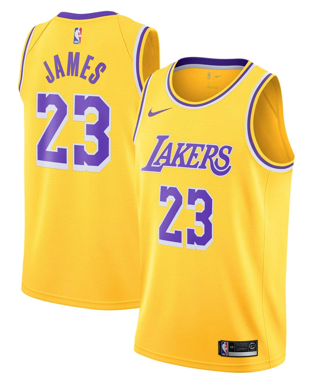 e5f18772fa71 Amazon.com   Outerstuff Boy s Los Angeles Lakers Lebron James Icon Edition  Swingman Jersey   Sports   Outdoors