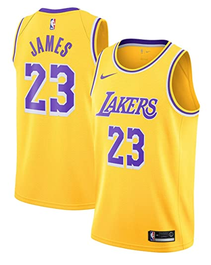 Outerstuff Boy s Los Angeles Lakers Lebron James Icon Edition Swingman  Jersey Small Gold 1c668af71