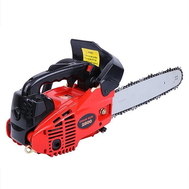 Ridgeyard Petrol Chain Saw Cutting Wood Gas-Powered Chainsaw