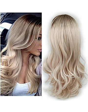 Lady Miranda Ombre Wig Brown To Ash Blonde High Density Heat Resistant  Synthetic Hair Weave Full e042e21409