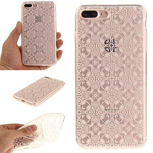 18 opinioni per Cover iPhone 7 PLUS Wanxida Custodia in Silicone TPU Cover Trasparente Chiaro