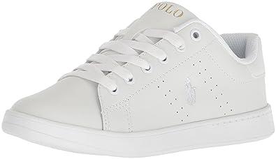 Polo Ralph Lauren Quilton White Gold Leather 40 EU  Amazon.fr ... 7b9f86157ff