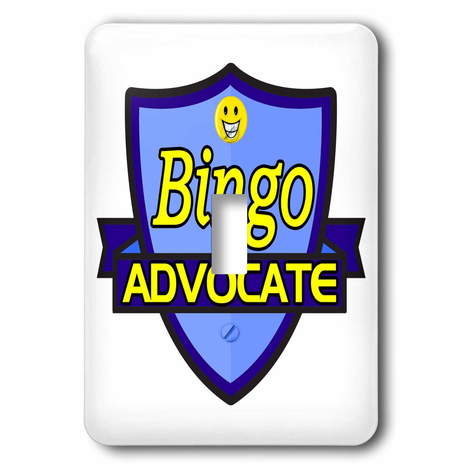 Dooni Designs – Funny Sarcastic Advocate Designs - Bingo Advocate Support Design - Light Switch Covers - single toggle switch (lsp_242495_1) by 3dRose