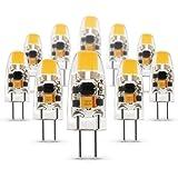 Albrillo Ampoule G4 LED COB Lot de 10, Lumière Blanc chaud 1,5W 100-120LM 3000K,AC/DC12V, Angle d'éclairage 360 ° Fabriqué en Silicone Format G4 [Classe énergétique A++] [Classe énergétique A++]