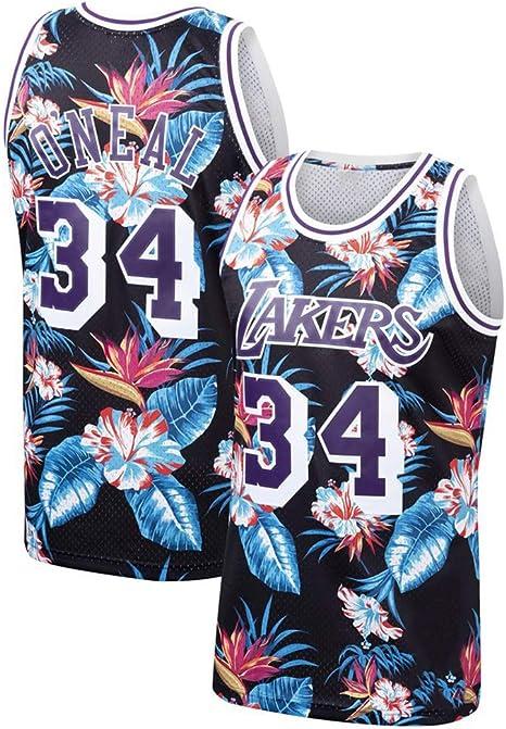 GRYUEN Hombre Mujer Ropa de Baloncesto NBA Lakers 34# Oneal/Heat ...