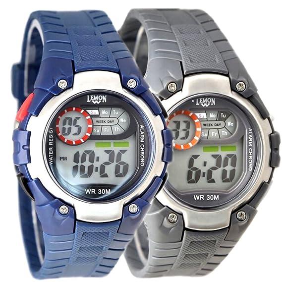 dw325h redondo graywatchcase Cronógrafo Fecha retroiluminación resistente al agua reloj Digital: Amazon.es: Relojes