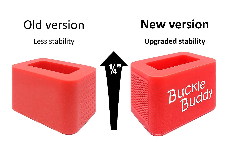 Buckle Buddy Car Seat Belt Buckle Holder Pack of 2 Car Seat Buckle Helper Booster Seat Buckle Holder Upgraded Larger Design Red