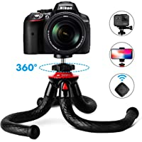 """Camera Phone Tripod Fotopro 12"""" Travel Tripod with Flexible Tripod Stand Phone Mount & Bluetooth Remote Control & Tripod for GoPro Adapter Clamp (Portable, Bendable, Anti-Crack, Waterproof Tripods)"""