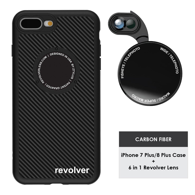Funda y 6  Lentes Ztylus Revolver p/ iPhone 7/8 Plus - Ca...