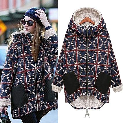 044d225b14 Dreamyth-Winter Women Plus Size Winter Jacket Woolen Outerwear Casual Long  Down Warm Overcoat (
