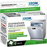 XROM High Efficiency Professional Dishwasher Cleaner 3 in 1 Formula, Removes Odors, Limescale & Detergent Build-Up…