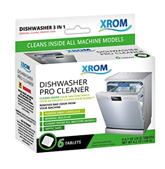 XROM 3 in 1 6 Tablets Dishwasher Cleaner
