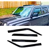 IINAWO 4x For 2007-2018 Jeep Patriot Sun Rain Guard Vent Shade Side Window Wind Deflectors Window Visors