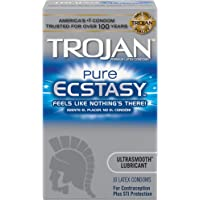 Deals on Trojan Condom Pure Ecstasy Ultrasmooth Lubricated