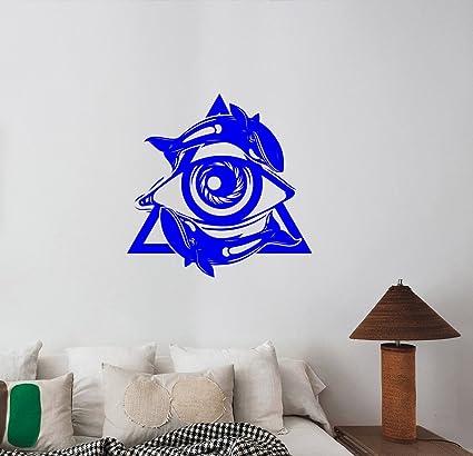 Pyramid All Seeing Eye Whales Wall Sticker Masonic Symbol