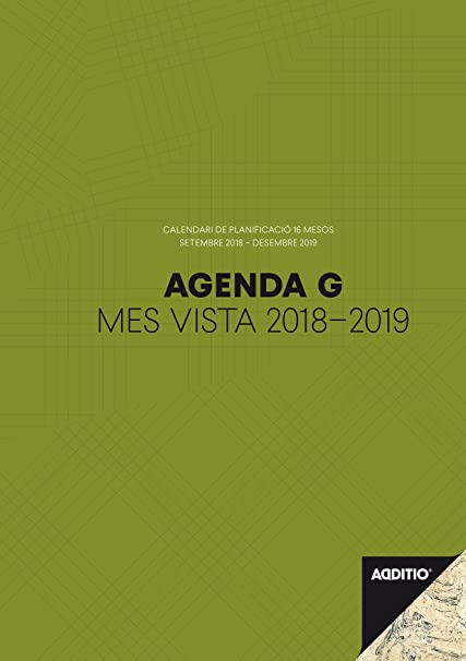 Additio P181 - Agenda G 2018-19, mes vista, catalán: Amazon ...