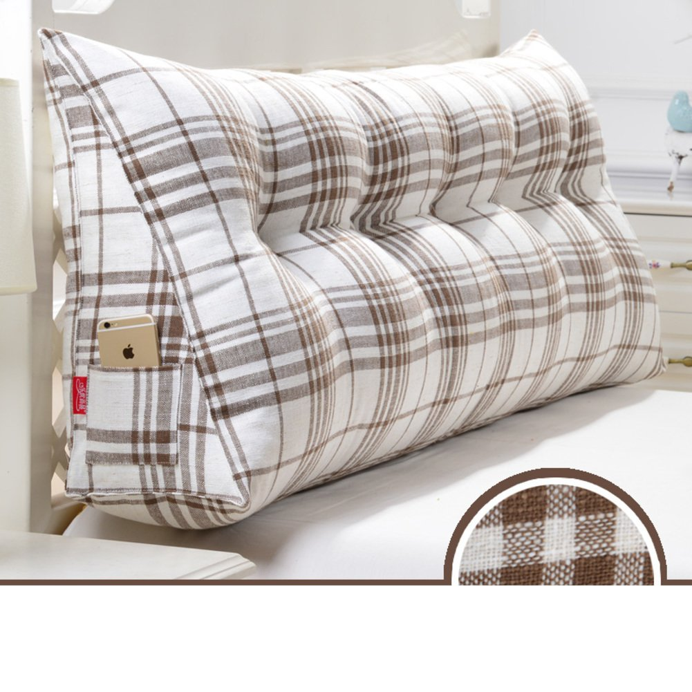 HDSGFDSHGK Two-person Bedside Triangular Cushion Pillow Tatami Pillow Waist Cushion Back Of The Sofa Soft Bag Bed To Protect Waist-H diameter200cm(79inch)
