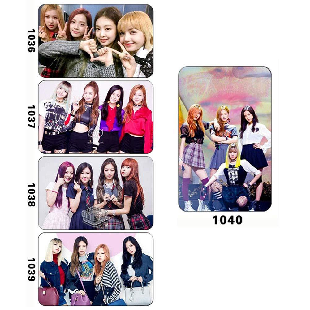 AimdonR 10 Pezzi KPOP Blackpink Photo Postcard Sostegno Lomo Cards Adesivi Set Regalo Adesivi di Carta riutilizzati Adesivi in plastica Pet per Fan