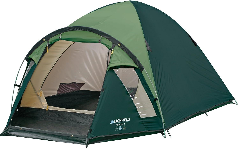 sc 1 st  Amazon UK & Lichfield Apache 3 Man Tent Evergreen: Amazon.co.uk: Sports u0026 Outdoors