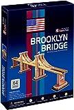 Puzzle 64 pièces - Puzzle 3D - Etat-Unis, New-York : Pont de Brooklyn