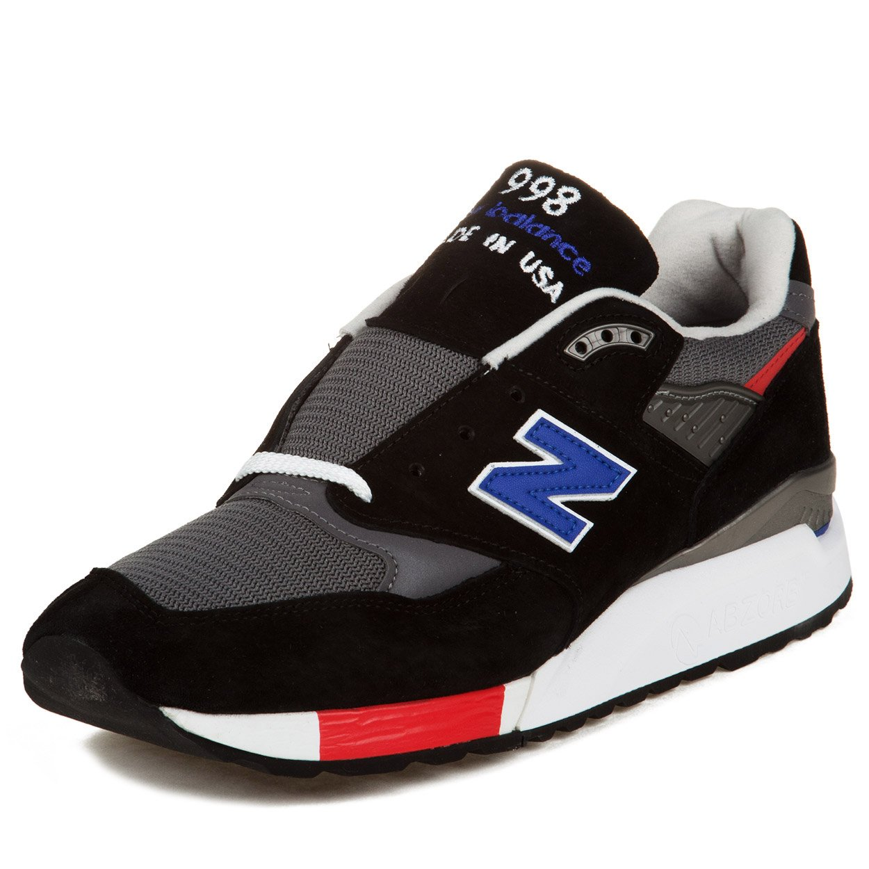New Balance Mens 998 Age of Exporation Walking Shoe 8 D(M) US Black With Blue & Red
