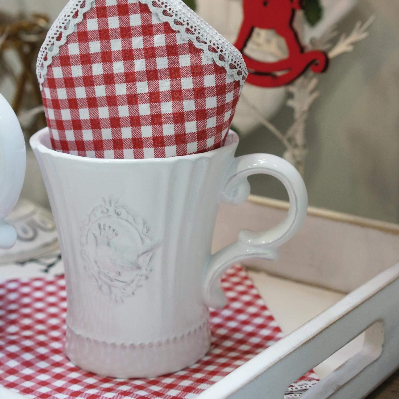 0,15L 8 cm Clayre /& Eef TCLKS Kaffeetasse mit Untertasse /Ø 15