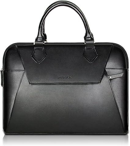 Shul Sac /à main ultrafin pour ordinateur portable pour femme Business  15 MacBook Ultrabook Sacoche de travail Sac /à bandouli/ère 15 inch noir 38/cm