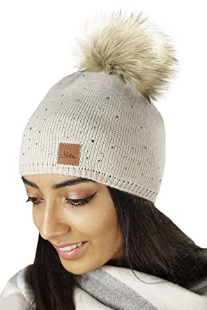 e5b3aff5ab4 Mikos  Women Ladies Winter Beanie Knitted Hat